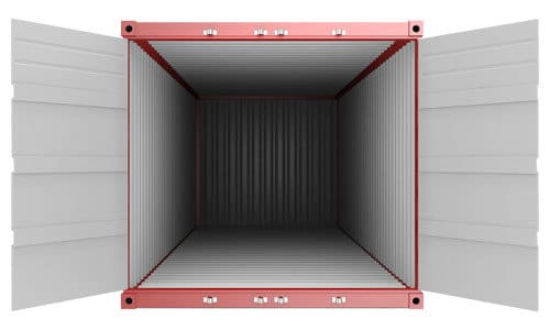 inside a storage container