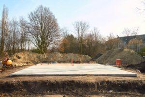 steel building foundation
