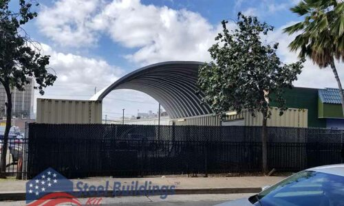 arch shipping container roof