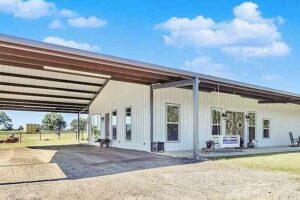 texas steel building home